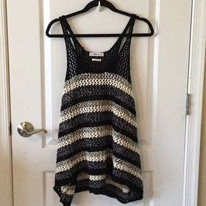 Zara knit stripped tank top